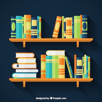 Book shelf vectors photos and psd files free download - Exclusive decoration of book shelf ...