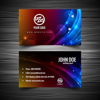 Colorful bright business card