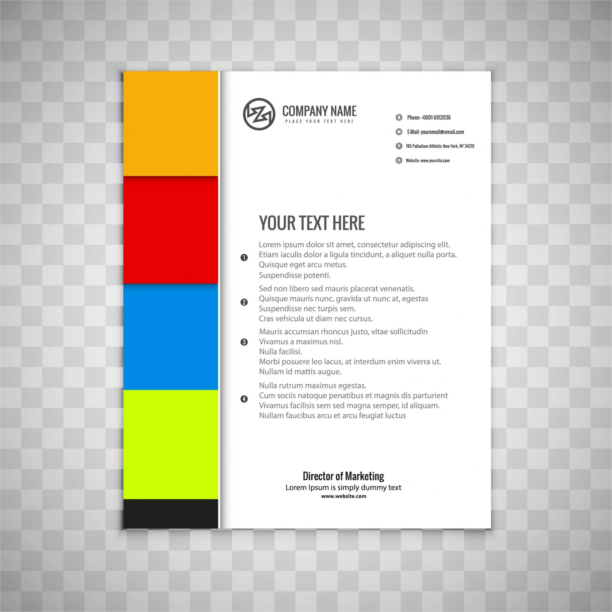 Colorful brochure page design