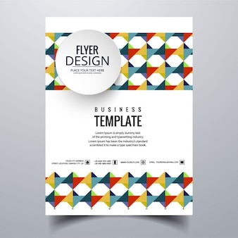 Colorful brochure with geometric shapes