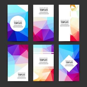 Colorful brochures set