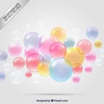 カラフルな泡の背景