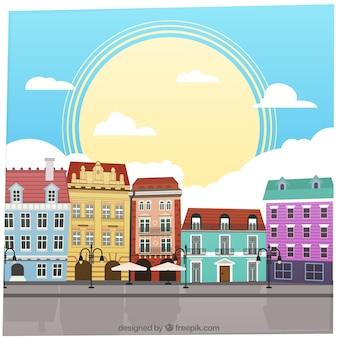 Colorful buildings
