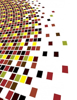 Colorful bursting tiles abstract background