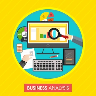 Colorful business analysis background