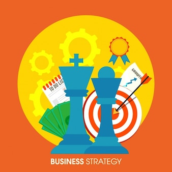 Colorful business background with strategy elements