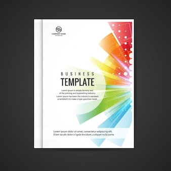 Colorful business booklet