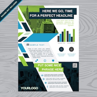 Colorful business brochure flyer layout template