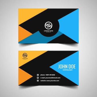 Colorful business card in modern style