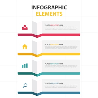 Colorful business infographic template