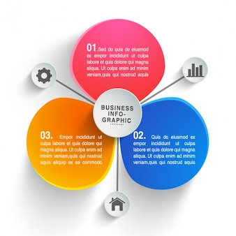 Colorful business infographic with three options