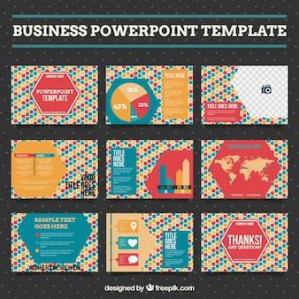 Colorful business presentation
