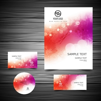 Colorful business stationery design