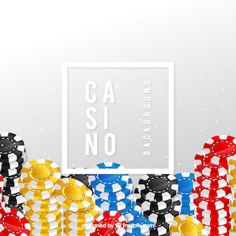 カラフルなカジノの背景