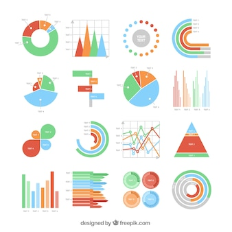 Colorful charts collection