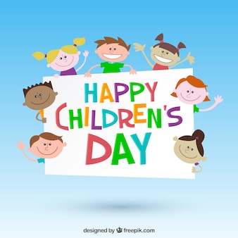 Colorful children's day illustration