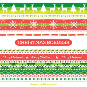 Colorful Christmas Borders
