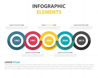 Colorful circular infographic template