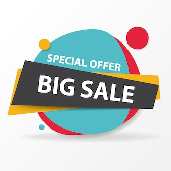 Colorful circular shopping sale banner template