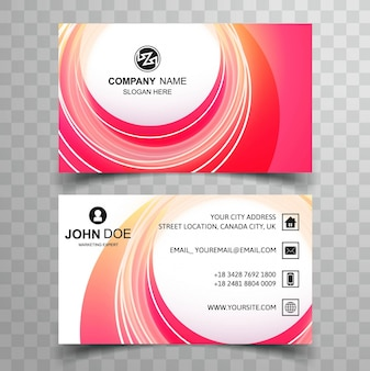 Colorful circular visiting card