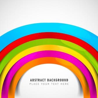 Colorful circular wave card