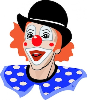 Colorful clown happy icon vector