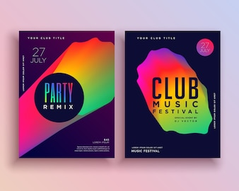 Colorful club music flyer template