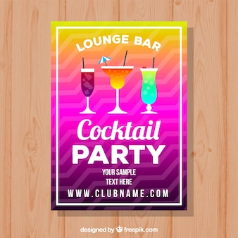 Colorful cocktail party brochure