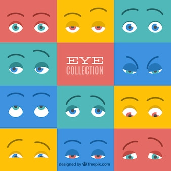 Colorful collection of eyes