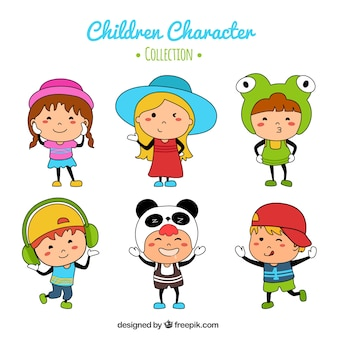 Colorful collection of funny children