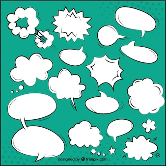 Colorful comic speech bubbles