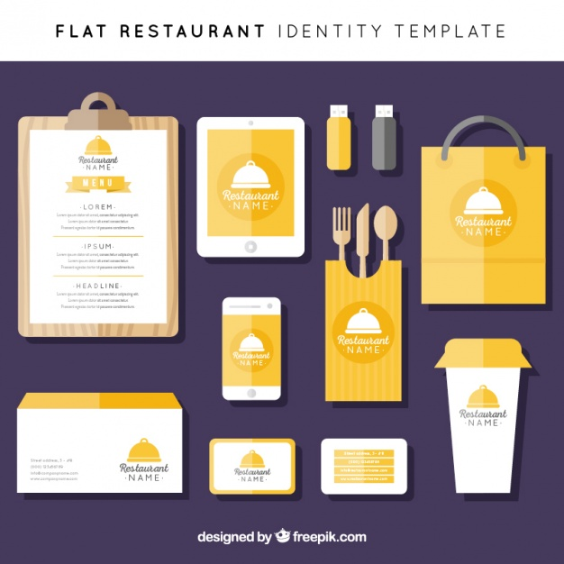 Colorful corporate identity in flat style