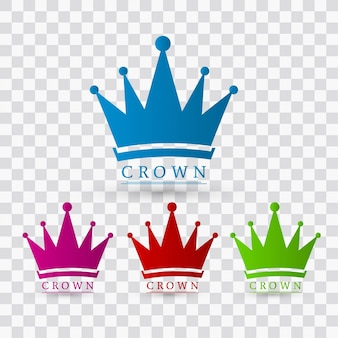 Colorful crown designs