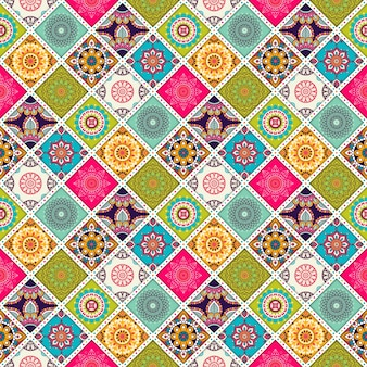 Colorful decorative ethnic pattern