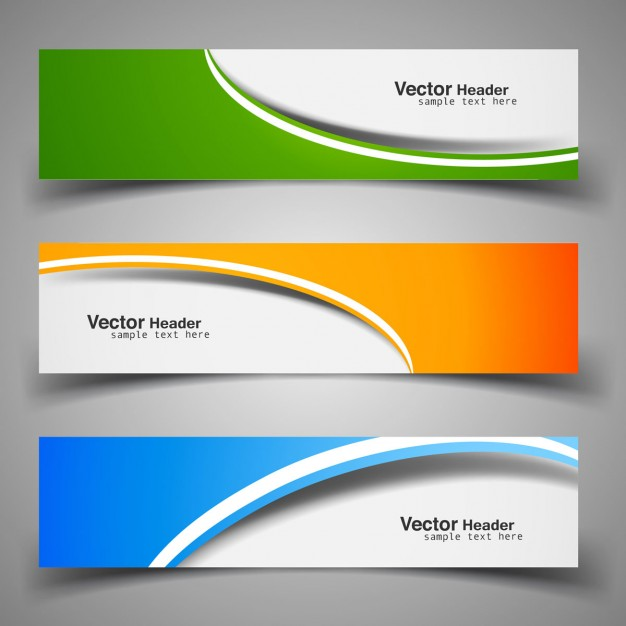 Colorful decorative headers