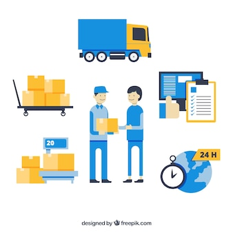 Colorful delivery composition