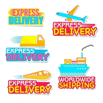 Colorful delivery labels