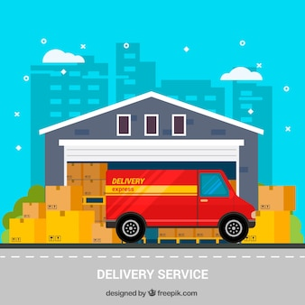 Colorful delivery service concept