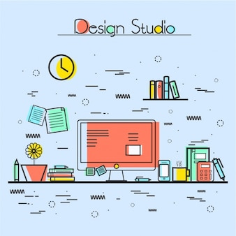 Colorful design studio