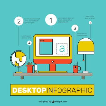 Colorful desktop infographic