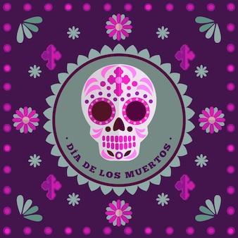 Colorful dia de los muertos background