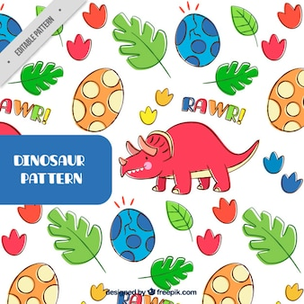 Colorful dinosaur pattern
