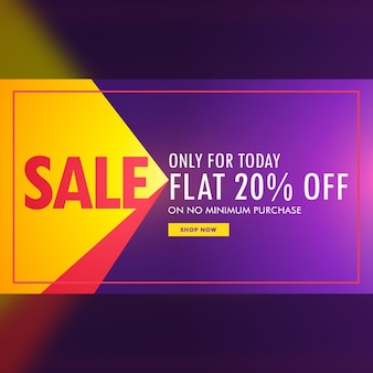 Colorful discount voucher on a blurred background