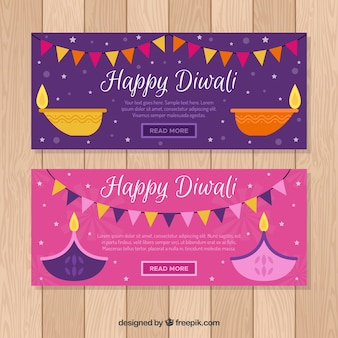 Colorful diwali banner