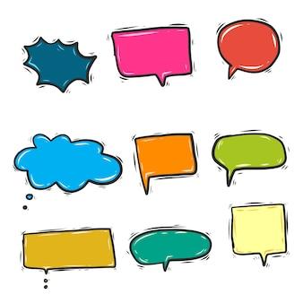 Colorful doodle speech bubbles