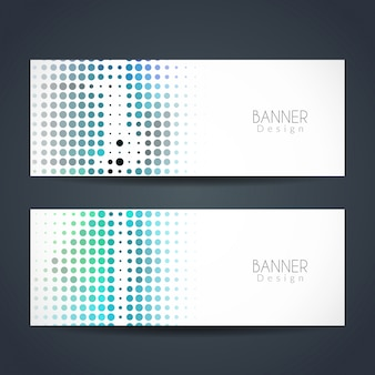 Colorful dotted banners
