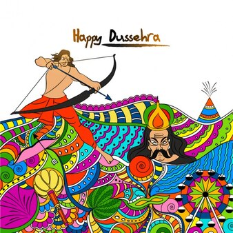 Colorful dussehra background