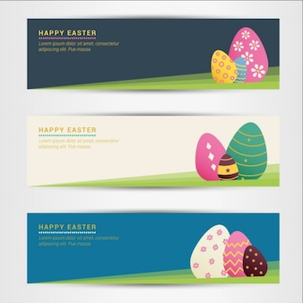 Colorful Easter Eggs Banners