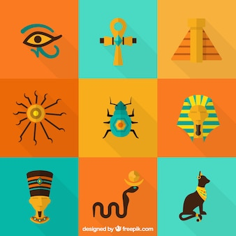 Colorful egyptian elements