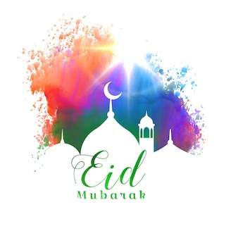 Colorful eid mubarak card